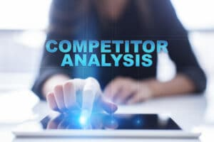 competitor analysis above an ipad
