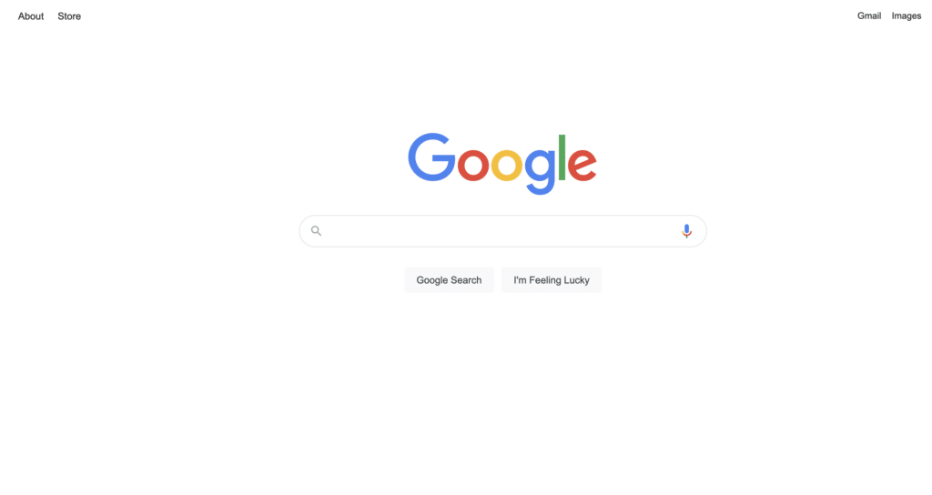 google home search page